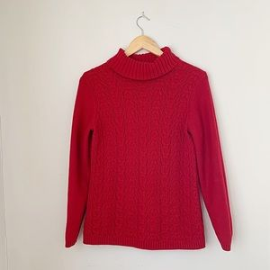 Coldwater creek red turtle neck